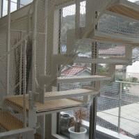 階段ネット(転落防止)工事(逗子市 O様邸)2