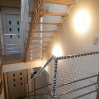 階段ネット(転落防止)工事(野比 N様邸)3