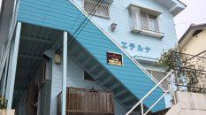 同系色に替えると見栄えがいいので、前回ムラサキだった階段は水色の濃い色に替えさせて頂きました。