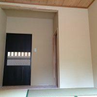 古材建具をお客様と購入しにいき、和モダンな和室になるように計画しました。