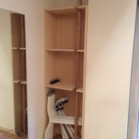 収納したいものをお伺いして、現場で考えながら家具を造作しました。