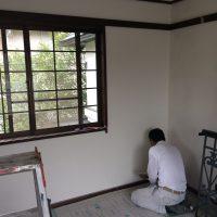 2階旧和室 漆喰塗り
