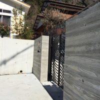出入り口は、本実型枠のコンクリート