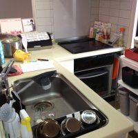 一人が作業することを想定したキッチン配置になってました。