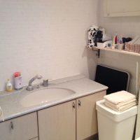 洗面台も既存洗面台を移設しました。