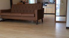 床色が変わるだけで、空間ががらっと変わりました。