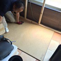 床にも防音パネルを施工